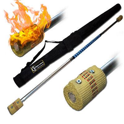 Silicone Coated WOODEN Handsticks Flames N Games TWISTER Pro Devil Stick Set
