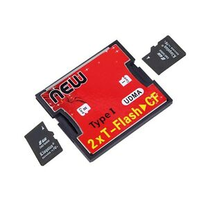 2-Ports-TF-SDHC-to-Type-I-1-Compact-Flash-Card-CF-Reader-Adapter-QD
