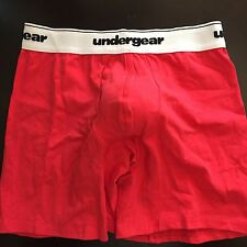 Undergear Men's Boxer Brief Contour Pouch Red S Small Cotton/spandex New