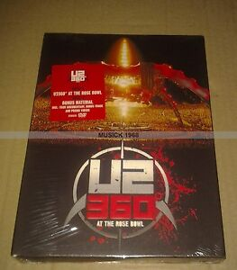 U2-360-AT-THE-ROSE-BOWL-COFFRET-2-DVDs-COLLECTOR-NEUF