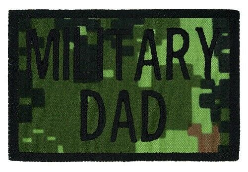 "USA MADE! 24 HR SHIP MILITARY DAD Embroidered Tactical Morale 2/""x3/"" Hat Patch"