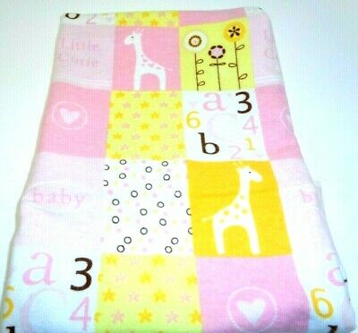Flannel Reversible Baby Blanket 32 by 32