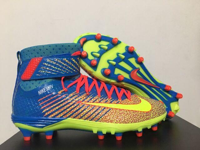 7a65ac168 Nike Lunarbeast Elite TD Football CleatsPhoto Blue Volt Crimson SZ  [779422-476]