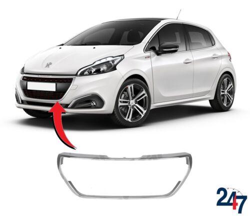 Nouvelle Peugeot 208 2015-2018 Pare-Chocs Avant Centre Grille Cadre Chrome