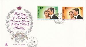 (17834) Grenade Fdc Princesse Anne Mariage 14 Novembre 1973-afficher Le Titre D'origine
