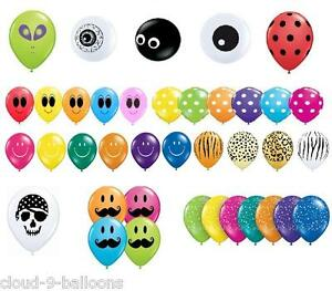10-Qualatex-5-034-Small-Latex-Party-Balloons-Many-Designs-Available-Air-Fill-Only