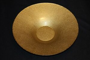 Murano-Italian-Art-Glass-Plate-or-Bowl-Large-Size-Gold-Reptile-Skin-Pattern