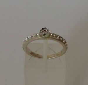 925-STERLING-SILVER-CUBIC-ZIRCONIA-RING-size-O1-2-or-R