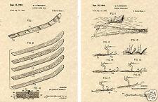1964 CYPRESS GARDENS WATERSKIS Patent Art Print READY TO FRAME!!!!! water ski