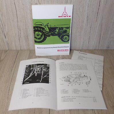 Bedienungsanleitung Deutz Schlepper Traktor D2505 GüNstigster Preis Von Unserer Website