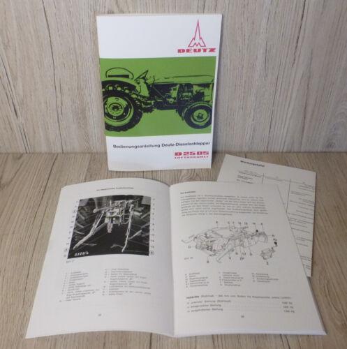 Bedienungsanleitung Deutz Schlepper Traktor D2505