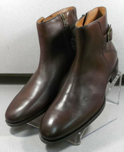 592208 ESBT50 Men/'s Shoes Size 8 M Brown Leather Zip Up Boots Johnston /& Murphy