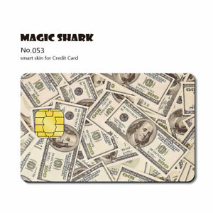FRONT ONLY Credit Card SMART Sticker skin protector pre-cut small chip
