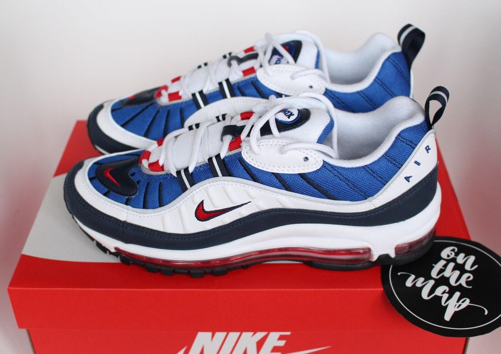 Nike Air Max 98 Gundam QS og azul blanco Wild rojo 640744-100 US New Wild blanco Casual Shoes 6521f4