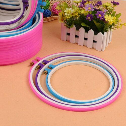 Embroidery Hoop Circle Round Frame Art Craft DIY Cross Stitch STUK