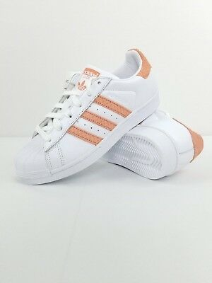 Mancha Florecer calcio  NWOB Women's Adidas Superstar Sneakers White/Chalk Coral CG5462 Sz 5.5 MSRP  $80 | eBay