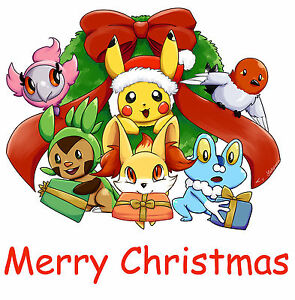 Pokemon Christmas.Details About Pokemon Christmas 20 8 X 10 T Shirt Iron On Transfer