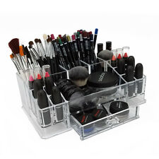 NEW! OnDisplay HAYLEY MAKEUP/JEWELRY ORGANIZER-ACRYLIC TRAY w/DRAWERS FOR MAKEUP