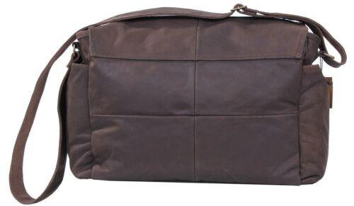 leather messenger bag classic brown shoulder bag rothco 91480
