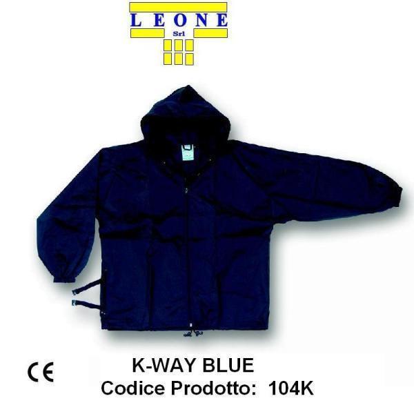 Giacca tipo K-Way impermeabile in Nylon Una tasca laterale 104k non foderato