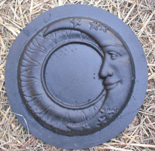 "Moon mold 10/"" x 1/"" thick plaster concrete abs plastic moon plaque mould"