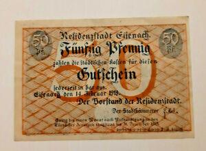 EISENACH-NOTGELD-50-PFENNIG-1918-NOTGELDSCHEIN-10988