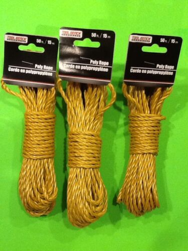 Lot Of 3 Strong Multi Purpose Poly Rope Hiking Backpacking Bug Out Bag Camping