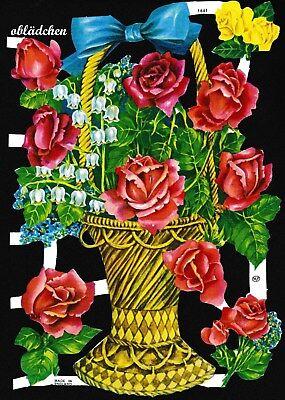 sehr selten alt # GLANZBILDER # MLP 1661 großer Blumenkorb wie EO 8027