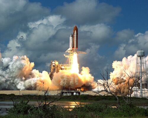 "LAUNCH OF DISCOVERY STS-26 FOR /""RETURN TO FLIGHT/"" MISSION EP-305 8X10 PHOTO"