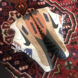 Mens-UK-10-5-Nike-Air-Max-90-Camowabb-Desert-Sand-Black-Dust-Trainers-Sneakers