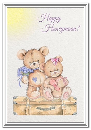 Good Luck wishes newly married couple Premium quality Happy Honeymoon card
