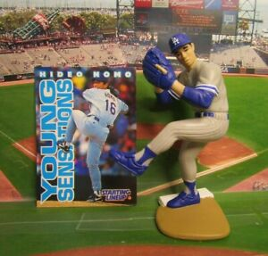 1996  HIDEO NOMO - Starting Lineup Baseball Figure & Card - L.A. Dodgers (GRAY)