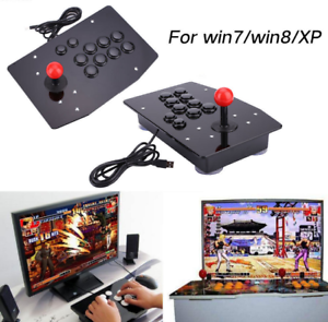C4B1-Acrylic-USB-Arcade-Fighting-Stick-Joystick-Gaming-Gamepad-Video-Game-For-PC