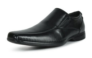 Bruno-MARC-GIORGIO-Mens-Square-Toe-Stretch-Insert-Slip-On-Loafers-Dress-Shoes