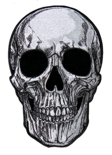 SUB SKULL EMBROIDERED 4 INCH IRON ON MC BIKER  PATCH