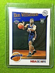 ZION-WILLIAMSON-ROOKIE-CARD-JERSEY-1-PELICANS-RC-2019-20-Panini-HOOPS-rookie-rc