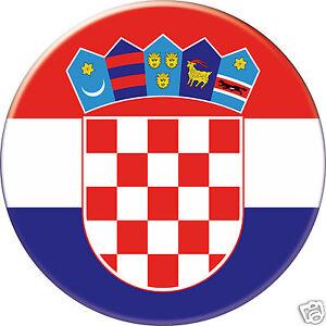 MAGNET frigo Ø56 mm coque style badge Croatie-Croatia-Croacia