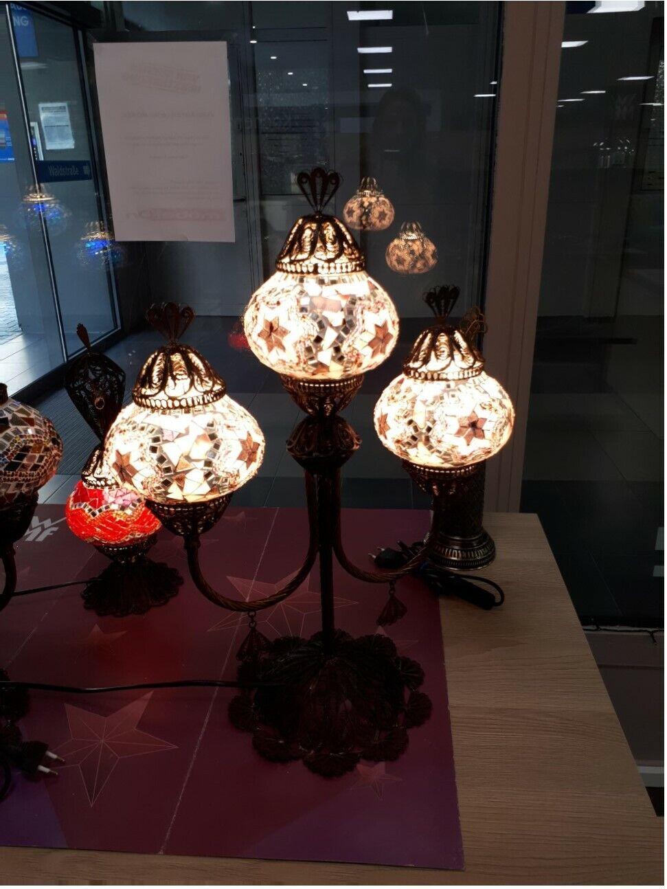 Mosaik Stehlampe Tischlampe Standlampe Orientalische Unikat 3 kugel Lampe