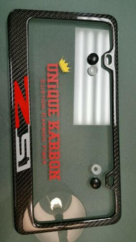 Handmade carbon fiber Z51 C7 C6 Z06 Corvette License Plate Frame  SHOW QUALITY!!