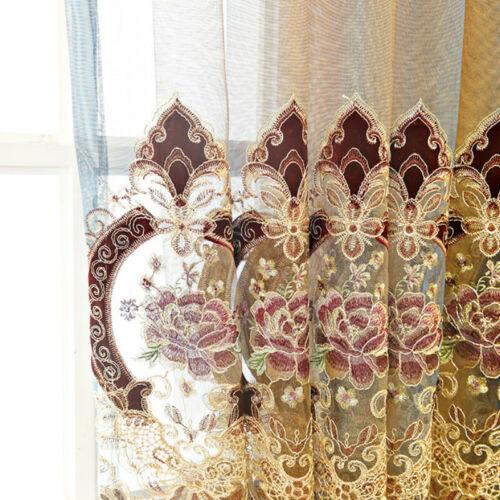 Luxus Stickerei Tüll Vorhänge Dichtkörper Top Europäische Schlafzimmer Fenster