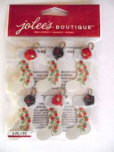 Jolee's Boutique Christmas Stockings Repeats 3D Stickers, NEW