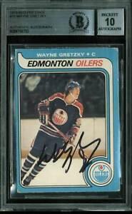 Oilers-Wayne-Gretzky-Signed-Card-1979-O-Pee-Chee-RC-18-Auto-Gem-10-BAS-Slabbed