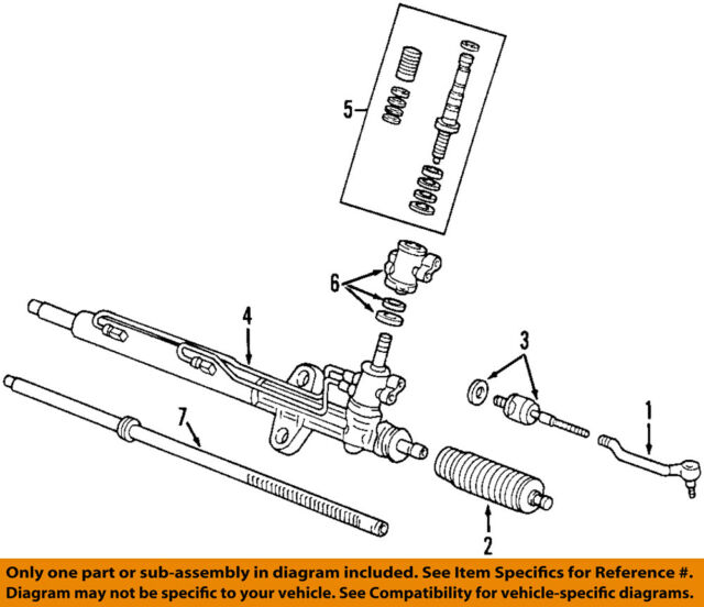 Acura Honda OEM Tlrack And Pinion Complete Unit SEPA - Acura tl rack and pinion