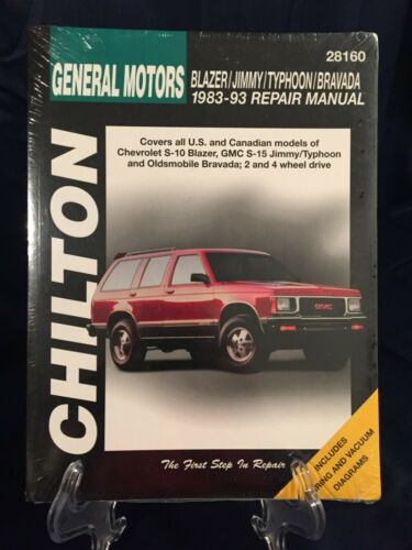 GM BLAZER JIMMY BRAVADA TYPHOON Repair Manual NEW 1983-1993 Chilton/'s 0801991102