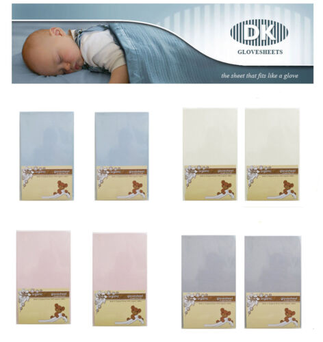 Super Soft ORGANIC Cotton DK Fitted Sheet 83x50cm To Fit  Next to Me Crib