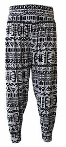 0b4bafb82a1 Ladies Plus Size Printed Harem Pants Cuffed Bottom Womens Ali Baba Trousers  8-26