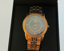 Men's Croton Watch Swiss Movement Diamonds Mother of Pearl Dial Sapphire Crystal