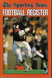 1985-Sporting-News-Football-Register-magazine-Walter-Payton-Chicago-Bears