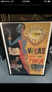 Vintage-Las-Vegas-Fly-Twa-Poster-by-David-Klein-Trans-World-Airlines