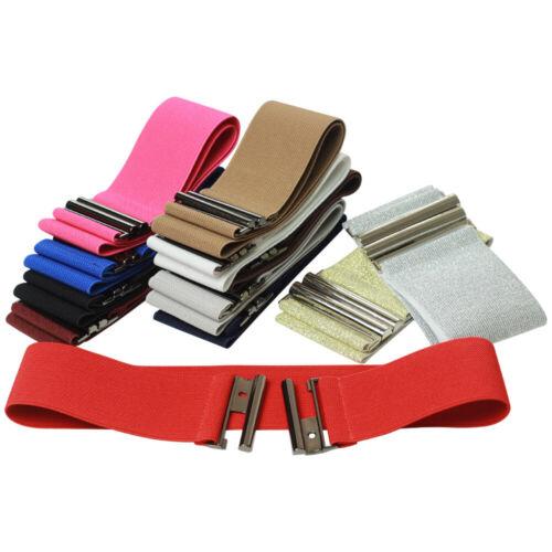 Solid Color Causal Women Wide Elastic Waist Belt Stretch Cinch Dress Waistband